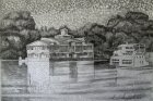 Silent Marina, 24x36 cm, pencil on paper, 2018