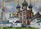 Ryazan Kremlin. 25x40 cm, oil on cardboard. 1995.