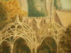 "Detail of the mural "" Elven city.\"" 1st wall ."