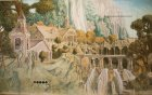 "Detail of the mural ""Elven city.\"" 1st wall."