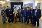 "Opening of an exhibition ""Kyshtym and Chernobyl: tragedy, feat, prevention\"". Against Alexey Akindinov and Valery Bobkov\'s pictures. Chuvash national museum. Russia, Cheboksary, on April 26, 2016."