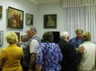 "Zakharovsky museum of local lore, opening of a personal exhibition of Alexey Akindinov ""My small Homeland\"", on June 2, 2016, Ryazan region, Russia."